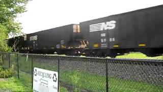 Norfolk Southern Loaded Coal Train 580, 7/17/10 Edgeworth PA