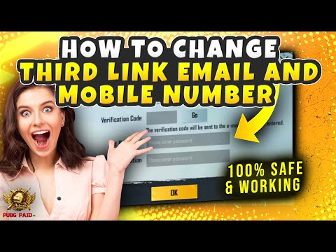How To Change Your Third Link Email And Mobile Phone Number - PUBG MOBILE Latest Glitch - PUBGPAIDPK