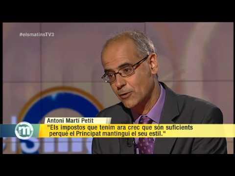 """TV3 - Els Matins - Antoni Martí Petit: """"Andorra ha pres una decisió inequívoca cap a la transpar"""