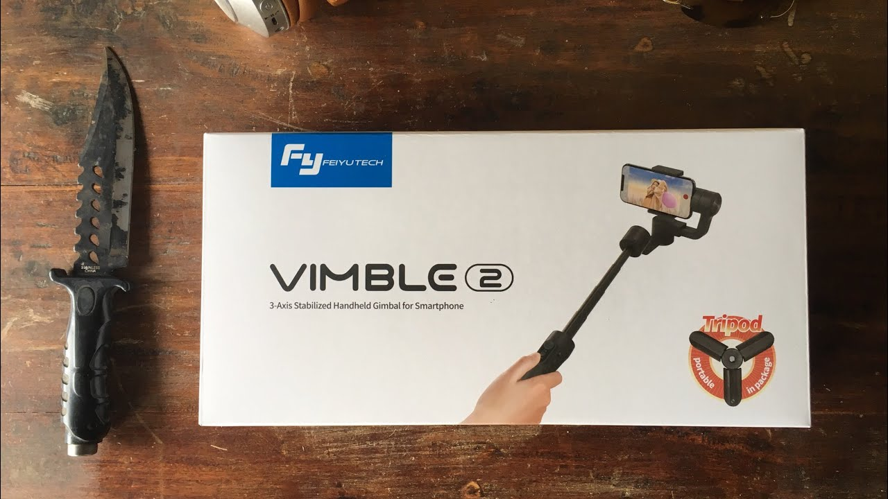 Feiyu Tech Vimble 2 Unboxing & Stabilization Test- smartphone gimbal with built-in selfie stick!