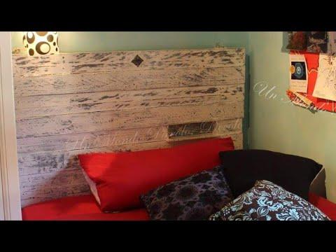 Testata del letto fai da te riciclando un pallet youtube - Testata del letto ...