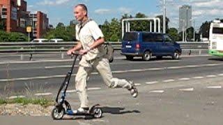 Y-SCOO 230 и Y-SCOO 205 или тест самокатов для взрослых с надувными или с твердыми колесами