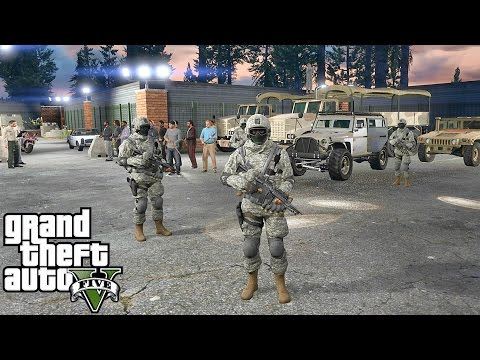 GTA 5 MODS - MILITARY PATROL - ZOMBIE APOCALYPSE 4 (GTA 5 PC