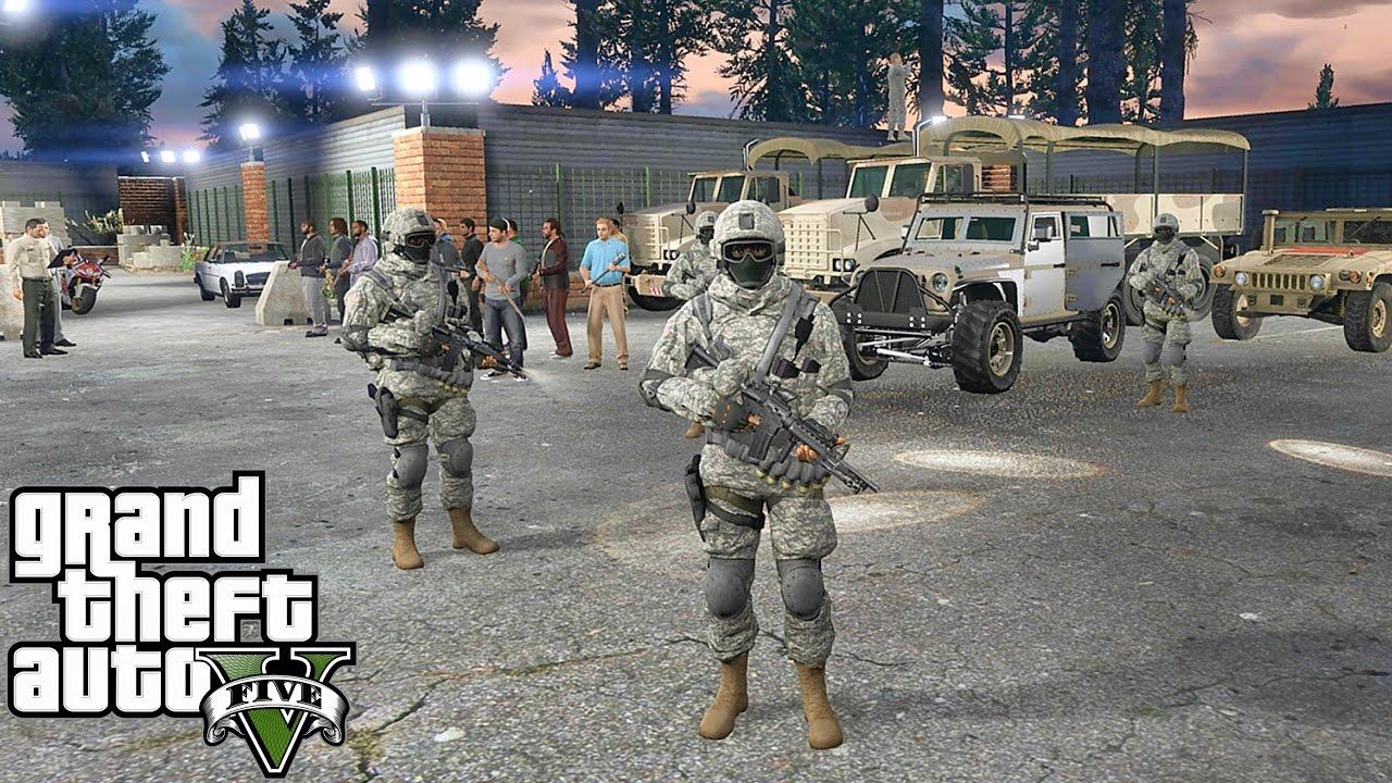GTA 5 MODS - MILITARY PATROL - ZOMBIE APOCALYPSE 4 (GTA 5 PC