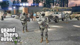 GTA 5 MODS - MILITARY PATROL - ZOMBIE APOCALYPSE 4 (GTA 5 PC POLICE MODS)