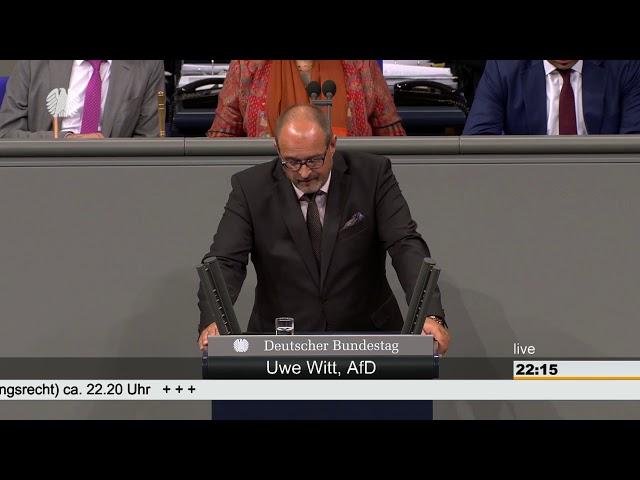 14.06.2018 Deutscher Bundestag Uwe Witt (AfD) zum Arbeitsförderungsgesetz Barrierefreiheit