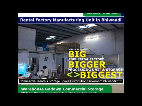 Industrial Space for Rent in Bhiwandi Rental Factory Manufacturing Unit in Bhiwandi