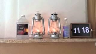 Time-Lapse Burn Test - Firefly CLEAN Lamp Oil vs. Paraffin Lamp Oil