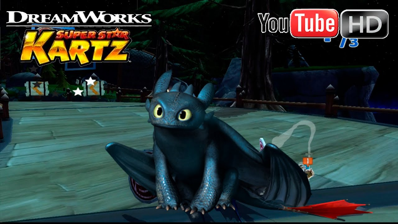 DreamWorks Super Star Kartz [Xbox360] - Toothless Race | ✪ Island Of Berk Night ✪ | TRUE HD QUALITY - YouTube