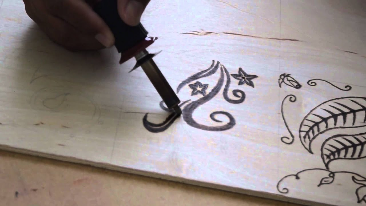 Pirografia en Madera Tutorial Para principiantes Pirograbado Paso a ...