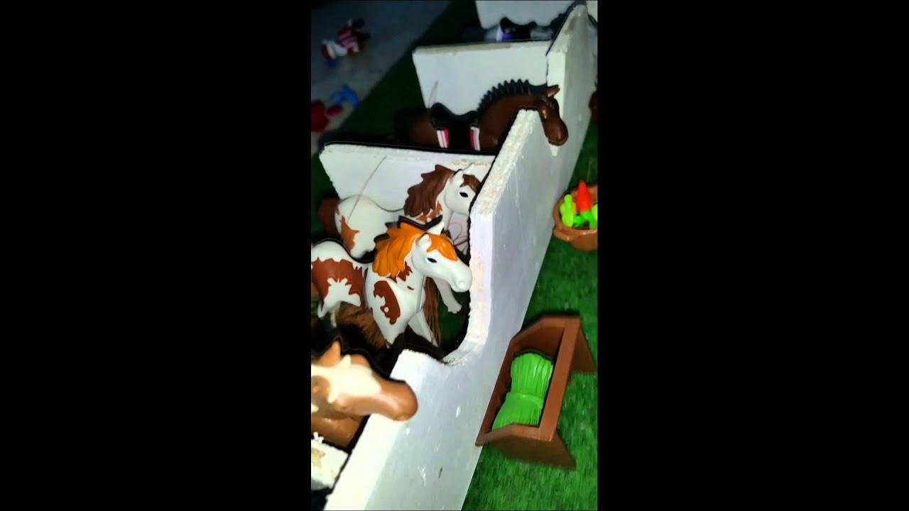 Presentation des animaux playmobil chevaux chien et chat - Com chien et chat ...