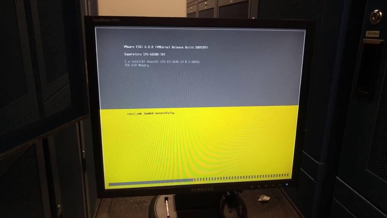 Installing VMware ESXi 6 full - YouTube