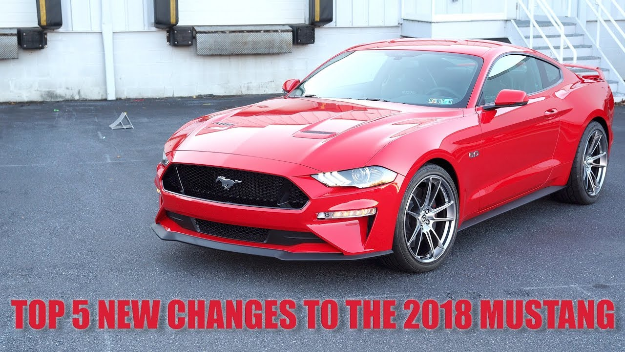 Top 5 New Changes to the 2018 Mustang