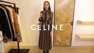 Новая коллекция Celine Женский образ Фирменный бутик в Лакшери Store Платья тренды 2020