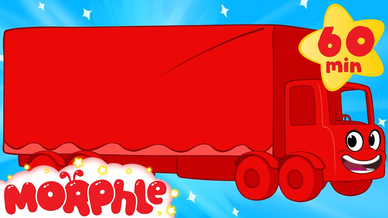 My Magic Truck (+1 hour My Magic Pet Morphle episodes with vehicles) Trucks for kids