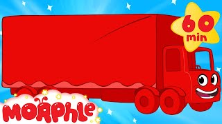 My Red Truck (+1 hour My Magic Pet Morphle episodes with vehicles) Trucks for kids