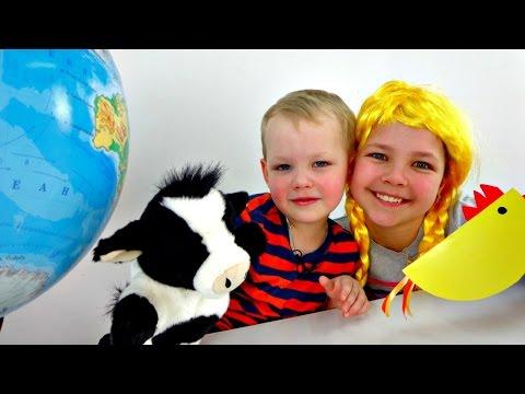 Игры для детей: Викторина. Настя, Вова и Умная коровка - Шпаргалка. Смешные видео