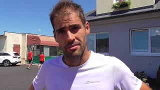 Michal Franěk po porážce v osmifinále Rieter Open Ústí nad Orlicí 2018