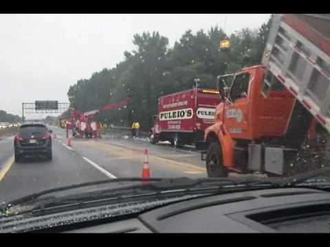 NJ Turnpike Haz-mat Truck Accident