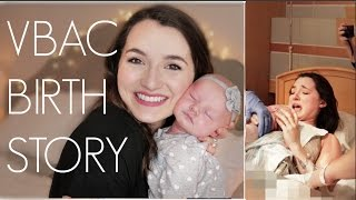 VBAC BIRTH STORY | Drug-Free Natural Birth | Natalie Bennett #VBAC