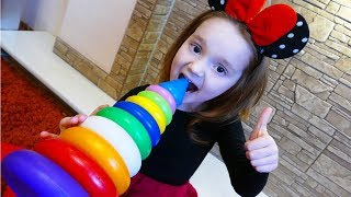 SoNiKa Play and Learn Colors with Stacking Rings | Finger Family Colors Songs for Children