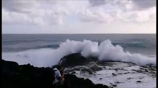 Impressionnantes vagues de la houle australe du 23 octobre 2018 à la Réunion
