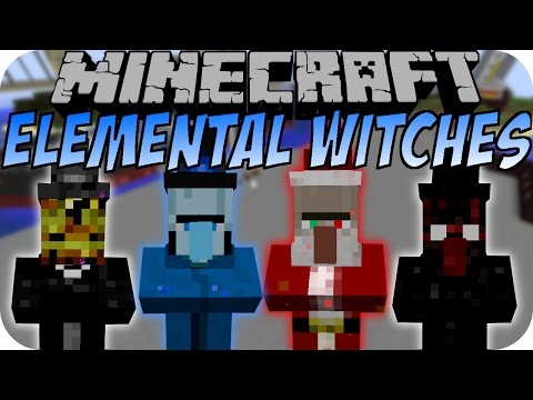 Minecraft ELEMENTAL WITCH MOD 2 (Water Witch, Dark Witch) [Deutsch]