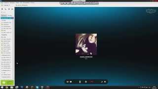 Разговор с девушкой по скайпу