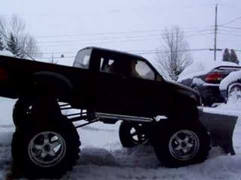 RC snow plow 2 R/C scale ford f150 - YouTube