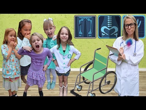 The Girls Become REAL Toy Doctors!