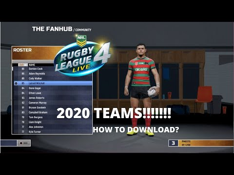 RLL4 2020 NRL TEAMS!!How To Download *PS4*