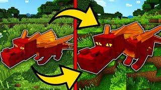 Как Вырастить Огненного Дракона Майнкрафт ПЕ выживание моды видео игра мультик для детей Minecraft