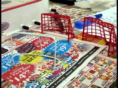 Refurbishing old STIGA table hockey game - YouTube