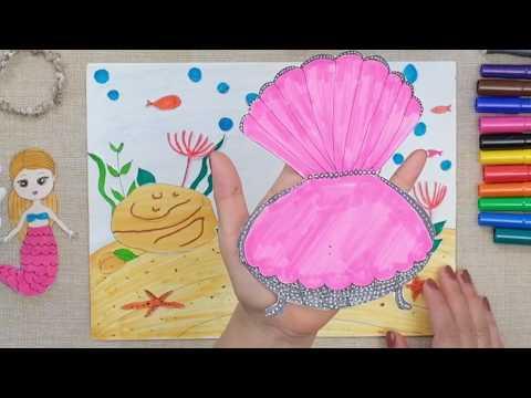 Mermaid dressup , Paperdoll, Quiet book