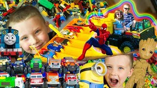 Best Surprise Toys for Boys Memories Hot Wheels Cars Trains LEGO | Kinder Playtime It's a Toy Party!