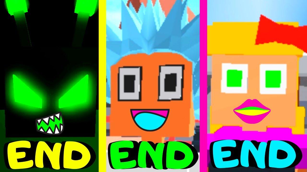 Roblox - All 3 Endings - Piggy Game Alien!