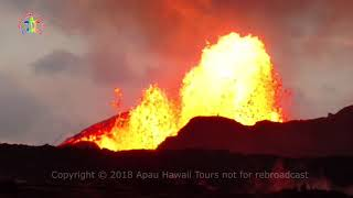 Kilauea eruption in Leilani Estates Fissure 8.  5:40 AM June 7, 2018