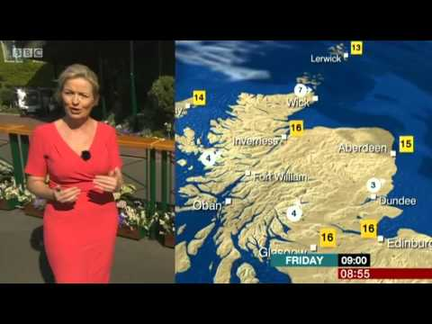 Carol Kirkwood BBC Weather 3/7/15