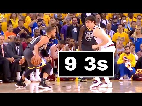 Steph Curry 9 Threes | Broke Finals Record | Game 2 Cavs vs Warriors