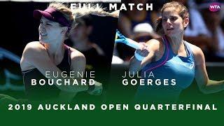 Eugenie Bouchard vs. Julia Goerges | Full Match | 2019 Auckland Open Quarterfinal