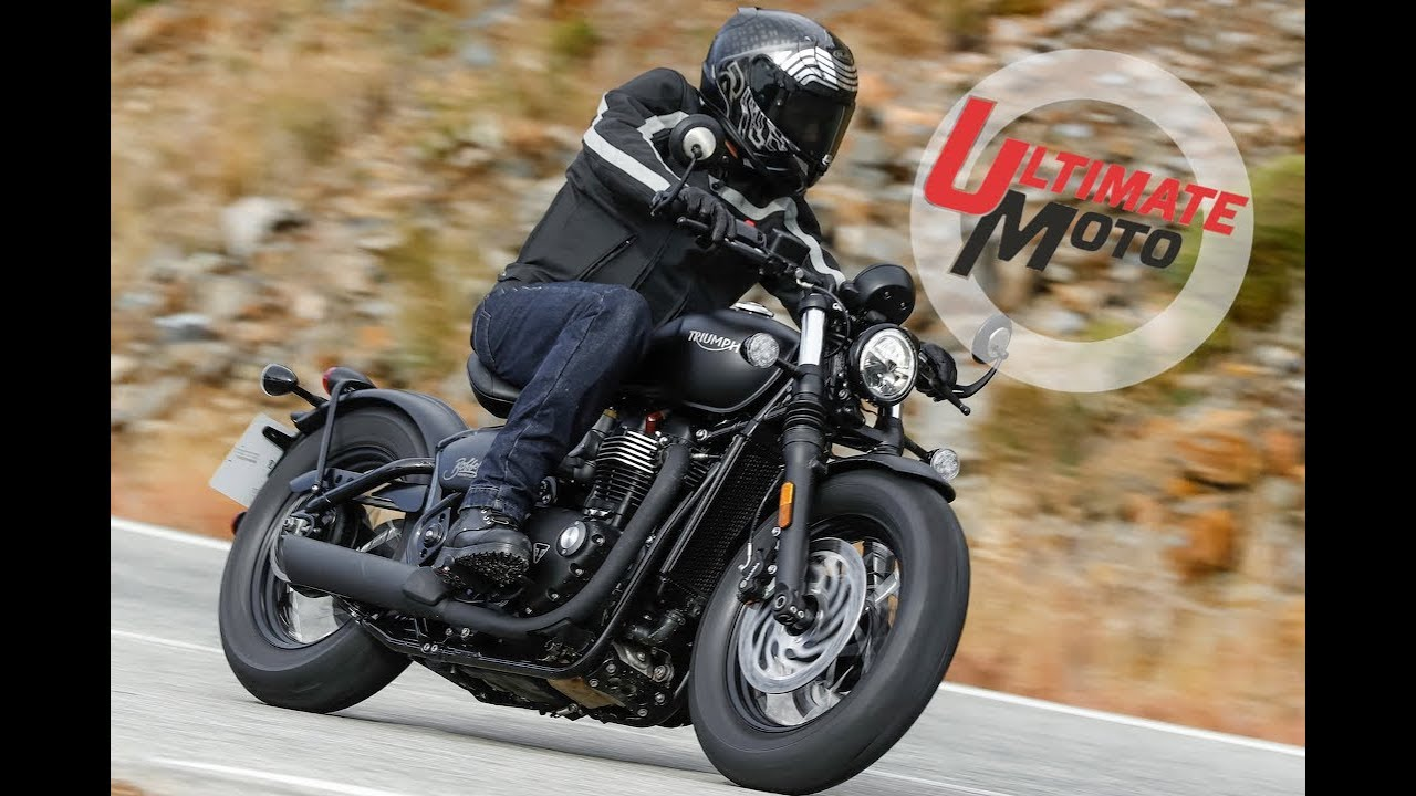 2018 Triumph Bonneville Bobber Black First Ride Review Ultimate