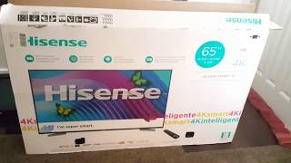 "65"" Hisense 4KHD TV Unboxing & Review!!"