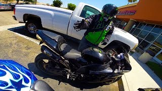 I caught this guy touching my bike!