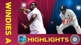 west-indies-a-vs-india-a-match-highlights-2nd-test-day-1-india-a-tour-of-west-indies