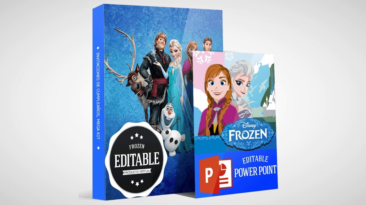 Invitaciones De Frozen Para Editar E Imprimir Youtube