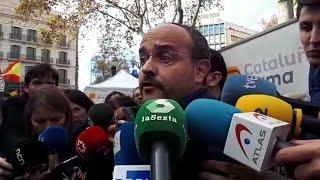 Declaraciones de Alejandro Fernández (PP) en la manifestación de Barcelona por la Constitución