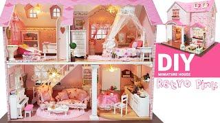 DIY Miniature Dollhouse KitㅣRetropink Houseㅣ레트로핑크하우스ㅣ미니어처하우스ㅣ박소소(soso miniature)