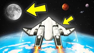 FLYING TO THE MOON IN GTA 5!!! (The Spaceship - GTA 5 Mods)
