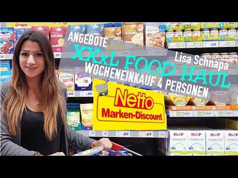 xxxl-food-haul-|-wocheneinkauf-|-netto-|-10%-auf-alles-|-4-personen-|-sparen-|-deutsch-|