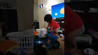 Baby funny extreme sports video